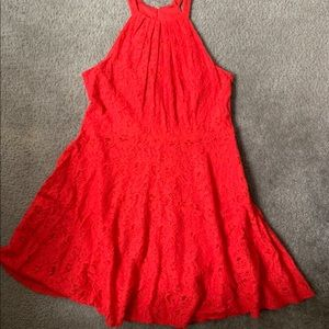 Express red lace dress size 12